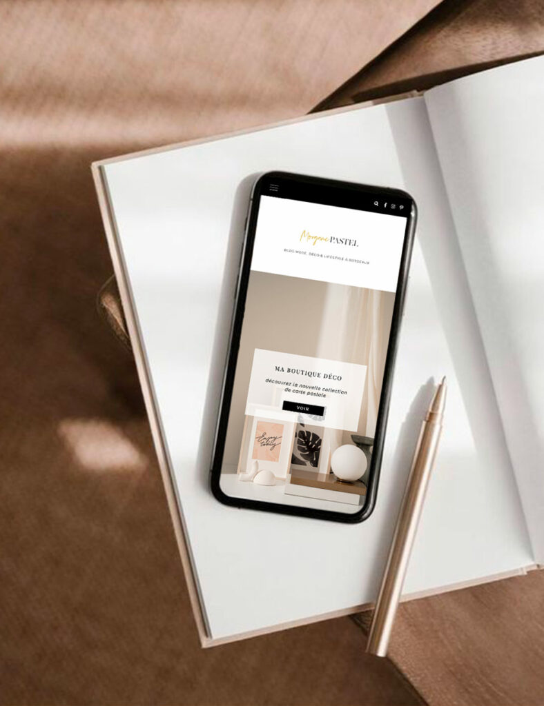 design web blog lifestyle