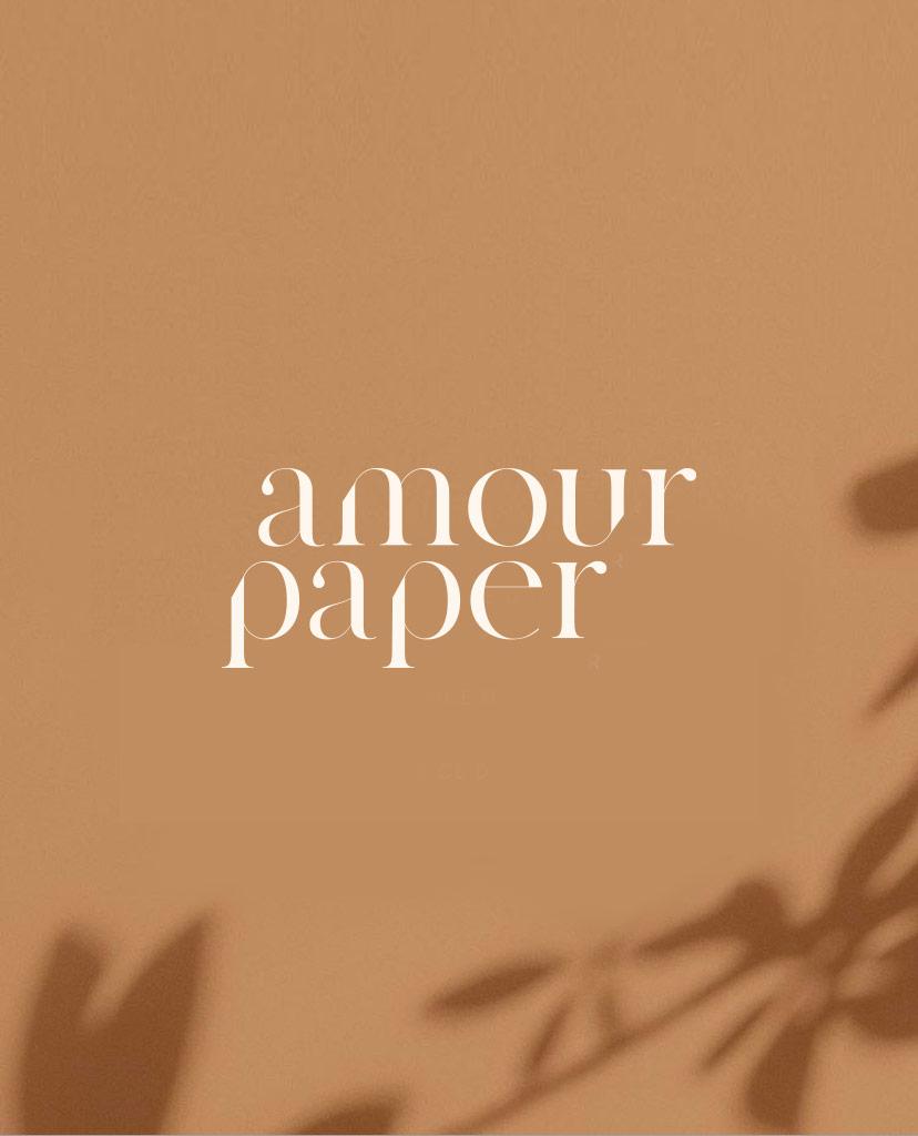 logo identite visuelle amour paper